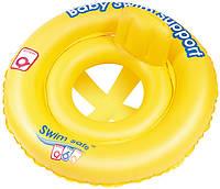 Надувний круглий дитячий пліт Bestway, розмір 69 см. Swim Safe з трусиками