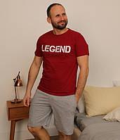 Комплект шорты и футболка мужские хлопок M, L, XL, 2ХЛ Турция