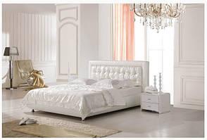 """Кровать двуспальная """"Olivia"""" (натуральная кожа, искусственная кожа, ткань)"""