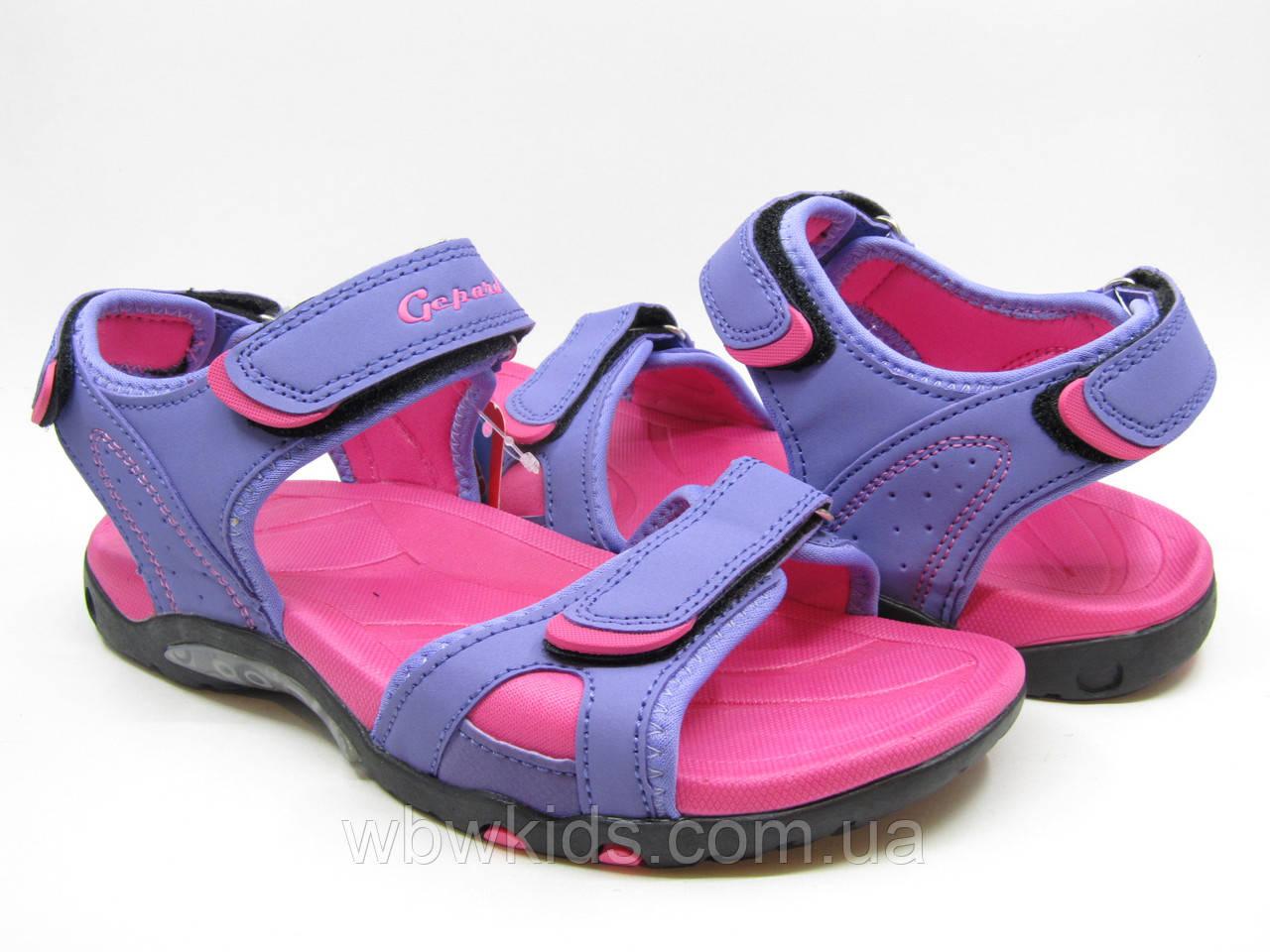 Сандалии подростковые Gepard  на девочку фиолетово-розовые 36