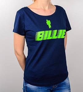 -Р - Футболка жіноча вільного крою Billie Синій (2032жс), XXL