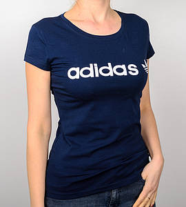 -Р - Футболка жіноча спортивна Adidas Синій (2017ж), L