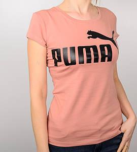 -Р - Футболка жіноча спортивна PUMA Темна пудра (2015ж), XL