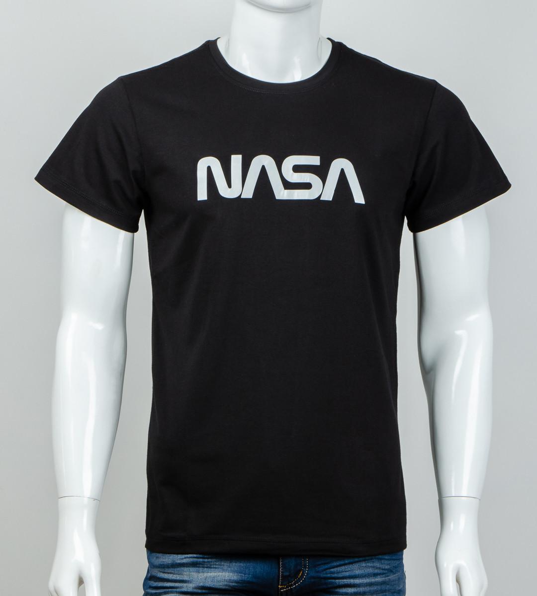 -Р- Футболка мужская светоотражающая NASA Черный (0915м), L