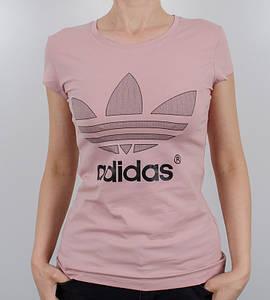 -Р - Футболка жіноча спортивна Adidas Пудра (1929ж), L