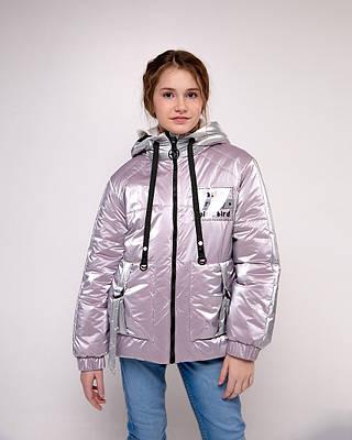Маша сиреневая детская подростковая куртка для девочек демисезонная