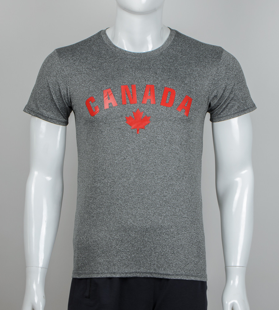 -Р- Футболка мужская мулине CANADA Средне-серый (2012м), L
