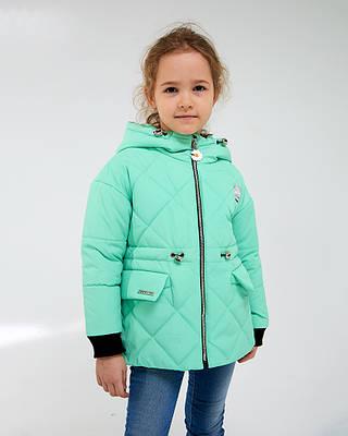 Эля зеленая детская курточка на девочку осень весна