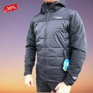 Спортивна Мужская Куртка Непромокаемая Демисезонная Черная М-3XL Columbia Titanium