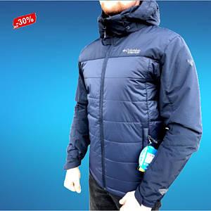 Спортивна Мужская Куртка Непромокаемая Демисезонная Синяя М-3XL Columbia Titanium