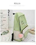 (4в1-как на фото)Рюкзак девушка 4в1 ткань Оксфорд сделанный в Китай спортивный городской стильный опт, фото 6