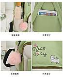 (4в1-как на фото)Рюкзак девушка 4в1 ткань Оксфорд сделанный в Китай спортивный городской стильный опт, фото 9