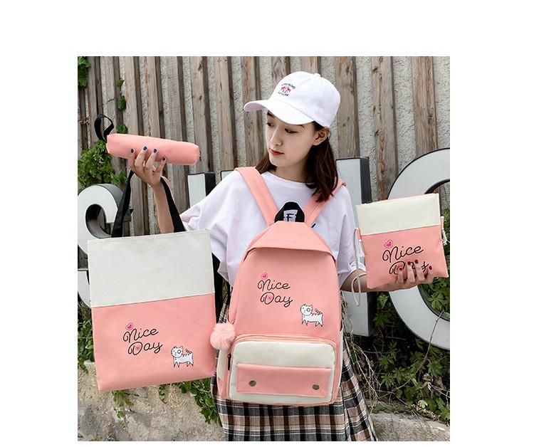(4в1-как на фото)Рюкзак девушка 4в1 ткань Оксфорд сделанный в Китай спортивный городской стильный опт