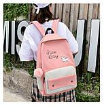 (4в1-как на фото)Рюкзак девушка 4в1 ткань Оксфорд сделанный в Китай спортивный городской стильный опт, фото 5