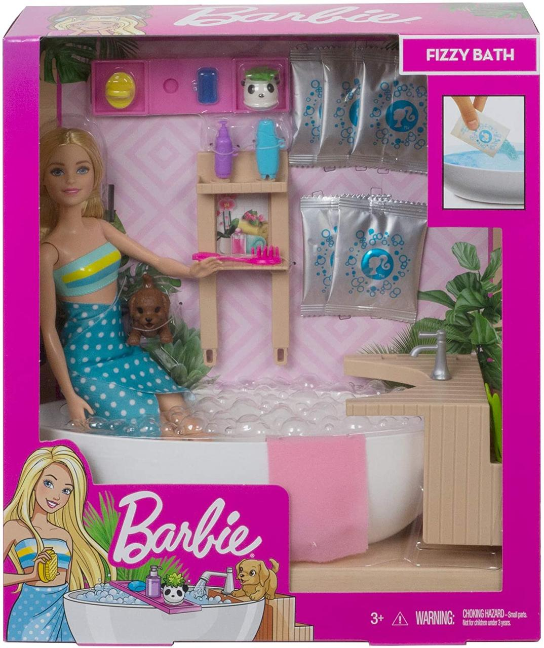 Игровой набор Кукла Барби и Шипучая ванна - Barbie Fizzy Bath Doll & Playset, Blonde GJN32
