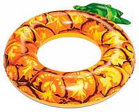 Надувне Коло Bestway Ананас, розмір 116 см, великий надувний круг в вигляді кавуна