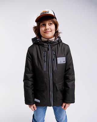 Марк зеленая детская подростковая куртка для мальчика демисезонная