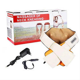 Масажер накидка для шиї, плечей і спини з підключенням в авто Massager of Neck Kneading