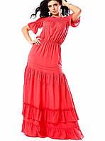 Платье в пол красное Кармен А3 Медини 46-48р