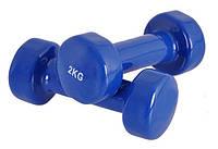 Гантели для фитнеса винил Спринтер 2 кг (пара), фото 1