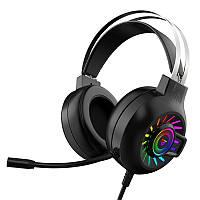 Игровые наушники с подсветкой RGB для компьютера и ноутбука G10 Bass RGB с активным шумоподавлением 7.1