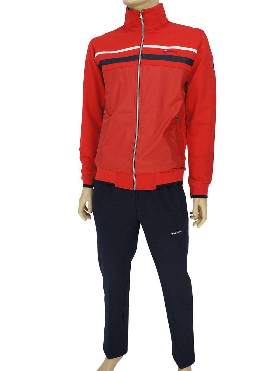 Турецкий трикотажный спортивный костюм Fabiani 3857 H Red красного цвета
