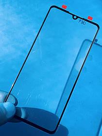 Скло дисплея для Huawei P30 чорне (оригінал Китай)
