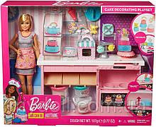 Уценка! Игровой набор Барби Кондитерский магазин Пекарня Barbie Cake Decorating Playset with Blonde Doll GFP59