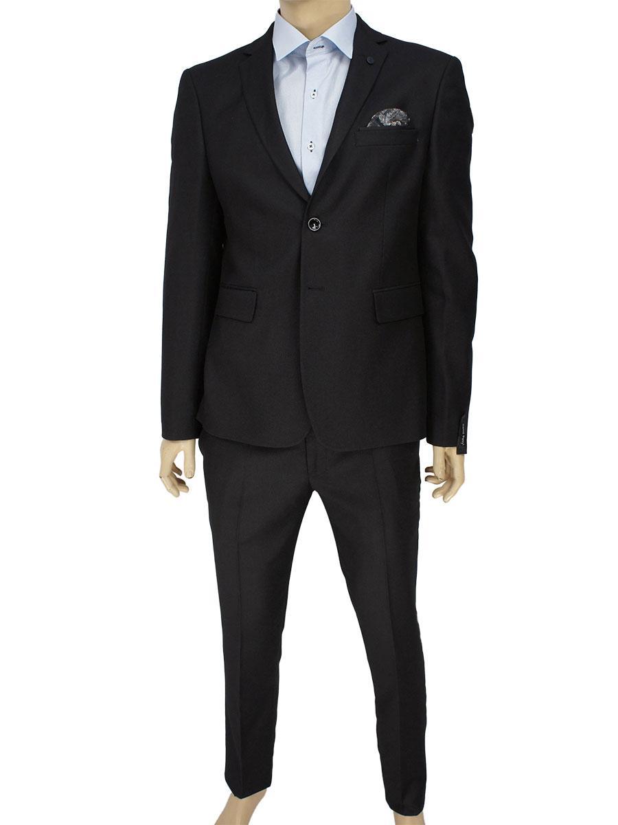 Чоловічий класичний костюм Daniel Perry Petek C. Siyan в чорному кольорі