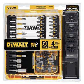 Набор бит и лезвий Dewalt MaxFit screwdriver bit set 50+4 ps