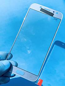 Стекло корпуса для Samsung J530 Galaxy J5 (2017) голубое(оригинал Китай)