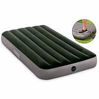 Надувной односпальный матрас «Intex» 64761 (99-191-25 см) Зеленый