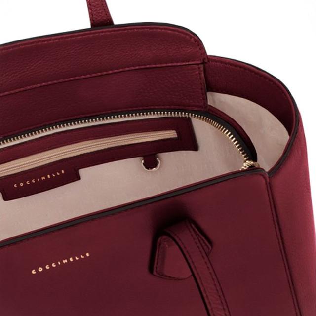 Бордовая женская сумка тоте Coccinelle