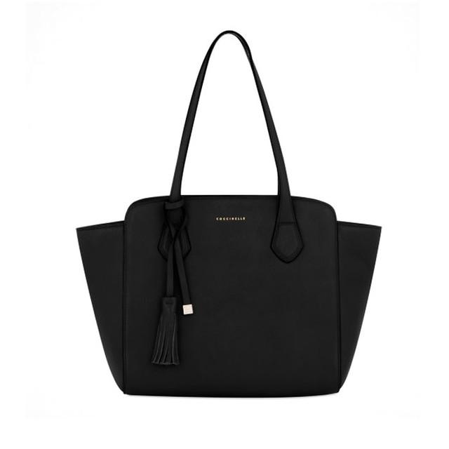 Черная женская сумка тоте Coccinelle