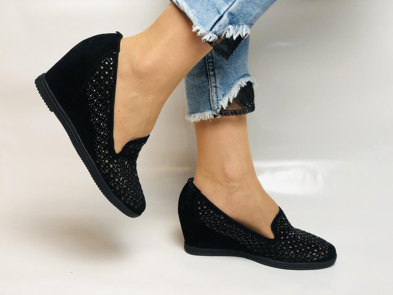 StaloTotti. Жіночі модельні туфлі-човники. Натуральна замша. Розмір 35.36.37.38.39.40