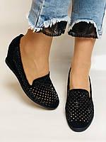 StaloTotti. Жіночі модельні туфлі-човники. Натуральна замша. Розмір 35.36.37.38.39.40, фото 8