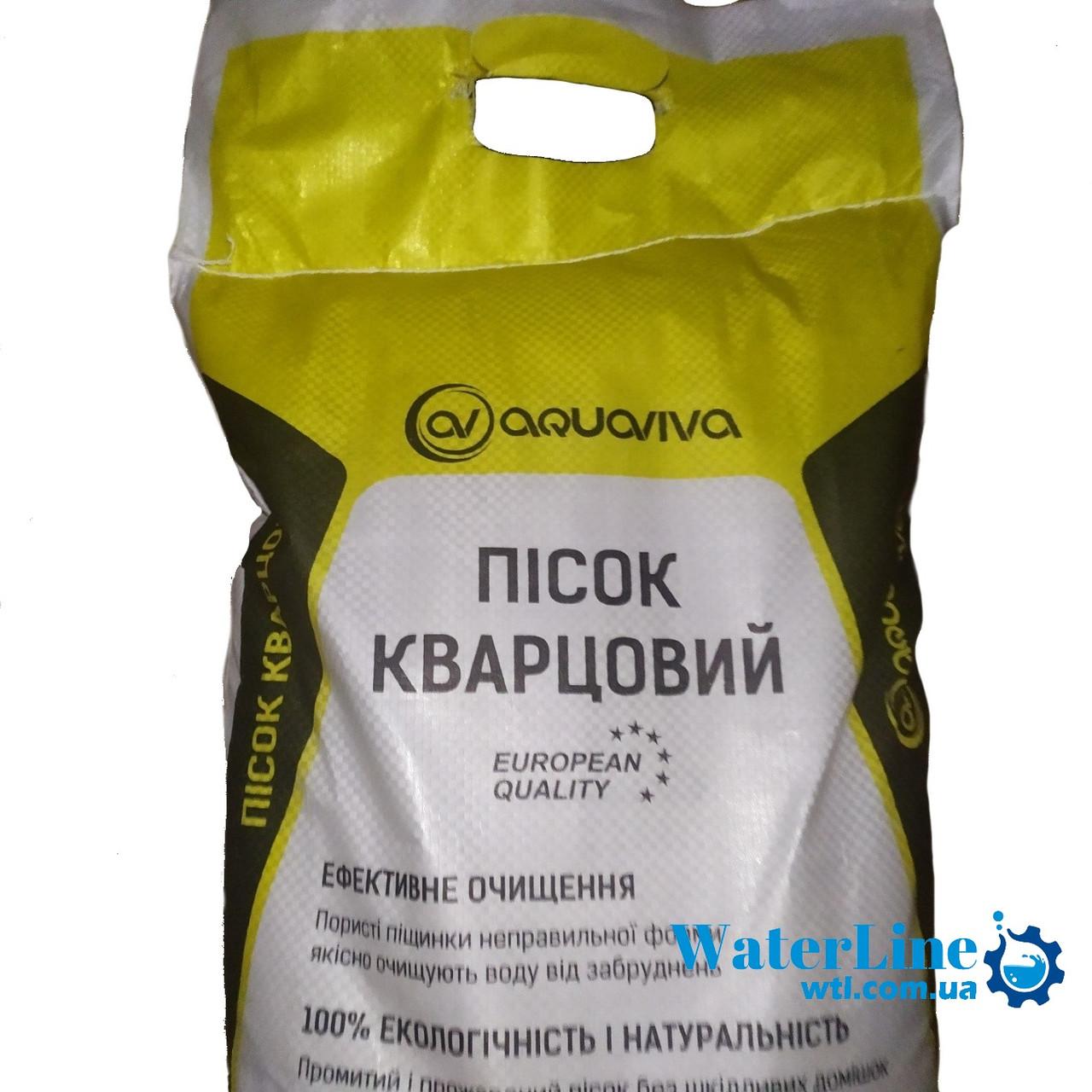 Кварцовий пісок 25 кг AquaViva Фракція 0,8 - 1,2 мм. Для фільтрації басейну