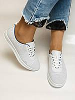 Турецкая обувь. Женские белые кеды-кроссовки из натуральной кожи. Размер  38 39, фото 4