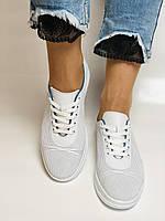 Турецкая обувь. Женские белые кеды-кроссовки из натуральной кожи. Размер  38 39, фото 7