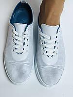 Турецкая обувь. Женские белые кеды-кроссовки из натуральной кожи. Размер  38 39, фото 9