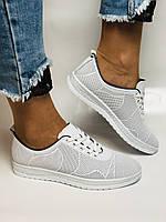 Турецкая обувь. Женские белые кеды-кроссовки из натуральной кожи. Размер  38 39, фото 10