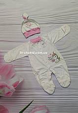 Чоловічок інтерлок на кнопочках 18-20 розмір (56 см, 62 см) / чоловічки для новонародженого, фото 3