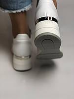 Evromoda. Женские кеды-кроссовки белые на платформе.Натуральная кожа.Турция. Размеры  40, фото 5