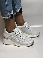 Evromoda. Женские кеды-кроссовки белые на платформе.Натуральная кожа.Турция. Размеры  40, фото 2