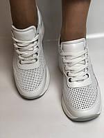 Evromoda. Женские кеды-кроссовки белые на платформе.Натуральная кожа.Турция. Размеры  40, фото 7