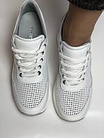 Evromoda. Женские кеды-кроссовки белые на платформе.Натуральная кожа.Турция. Размеры  40, фото 9