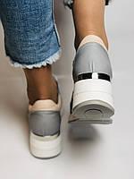 Evromoda. Женские кеды-кроссовки на платформе. Натуральная кожа. Турция.  Размер 37.39., фото 5