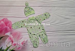 Человечек интерлок на кнопочках 18-20 размер  (56 см, 62 см)  / человечки для новорожденного, фото 2