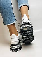 Evromoda. Женские кеды-кроссовки белые из натуральной кожи.Турция. Размер 36.37.39.40, фото 4