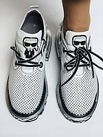 Evromoda. Женские кеды-кроссовки белые из натуральной кожи.Турция. Размер 36.37.39.40, фото 9